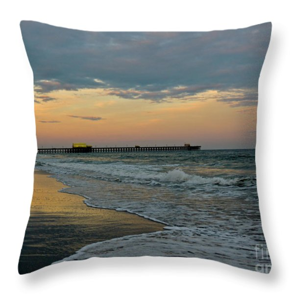 The End Of The Day Throw Pillow by Eve Spring