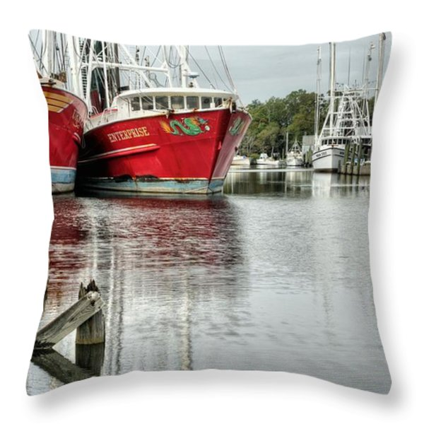 The Enterprise Throw Pillow by JC Findley