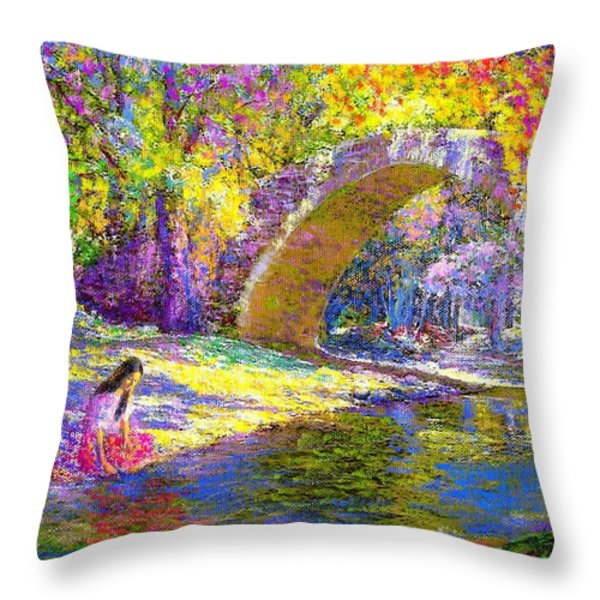 The Eternal Now Throw Pillow by Jane Small