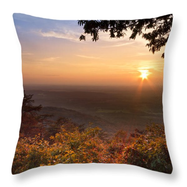 The Evening Star Throw Pillow by Debra and Dave Vanderlaan