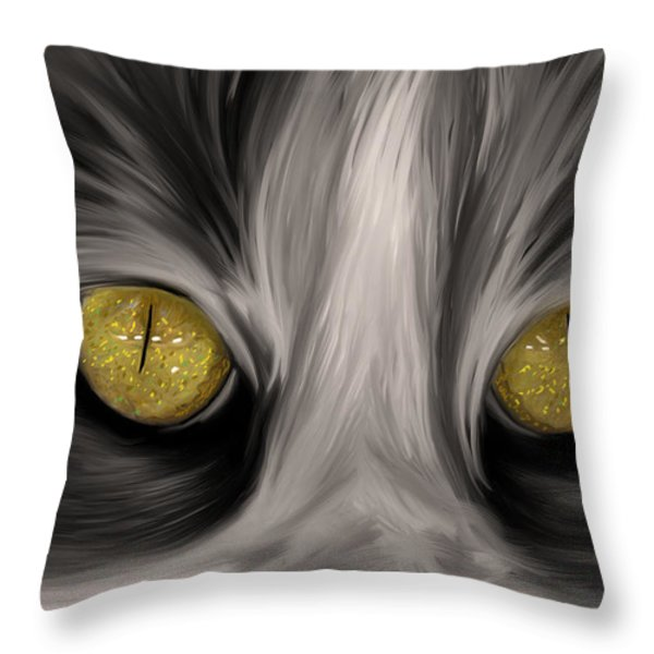 The Eyes Have It Throw Pillow by Angela A Stanton