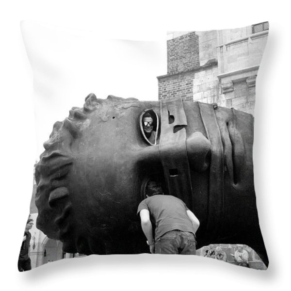 The Eyes Of Eros Throw Pillow by Robert Lacy