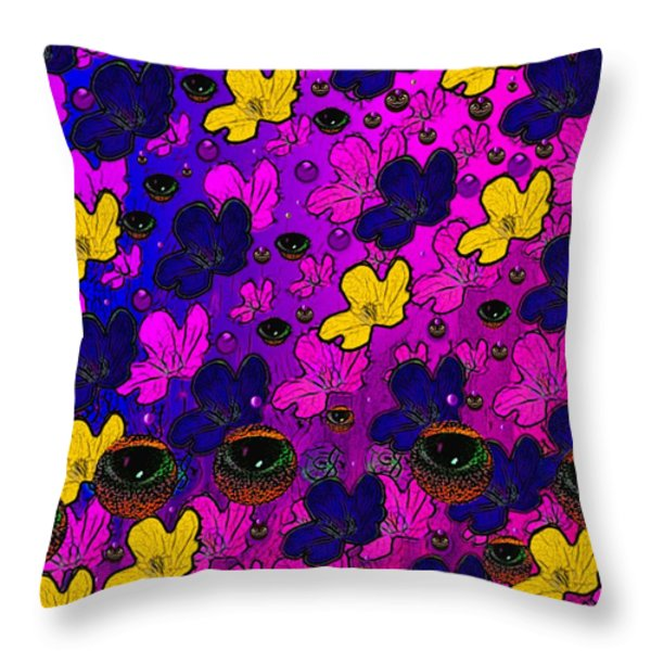 The Eyes Of Mother Nature Serve And Protect Throw Pillow by Pepita Selles