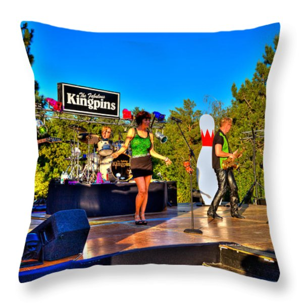 The Fabulous Kingpins Throw Pillow by David Patterson