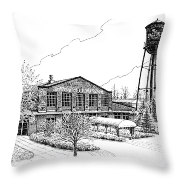 The Factory in Franklin Tennessee Throw Pillow by Janet King