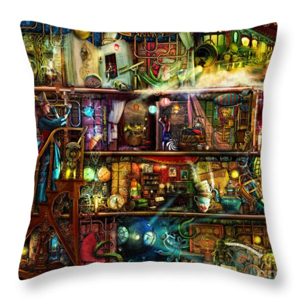 The Fantastic Voyage Throw Pillow by Aimee Stewart