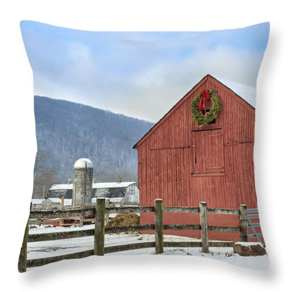 The Farm Throw Pillow by Bill  Wakeley