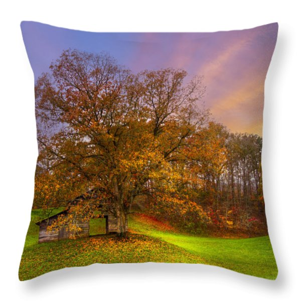 The Farm Throw Pillow by Debra and Dave Vanderlaan