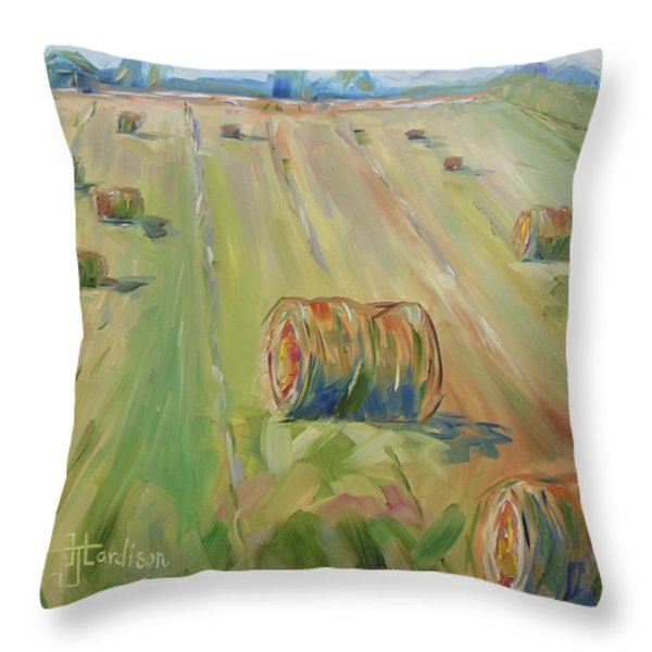 The Farm Throw Pillow by Josephine Hardison
