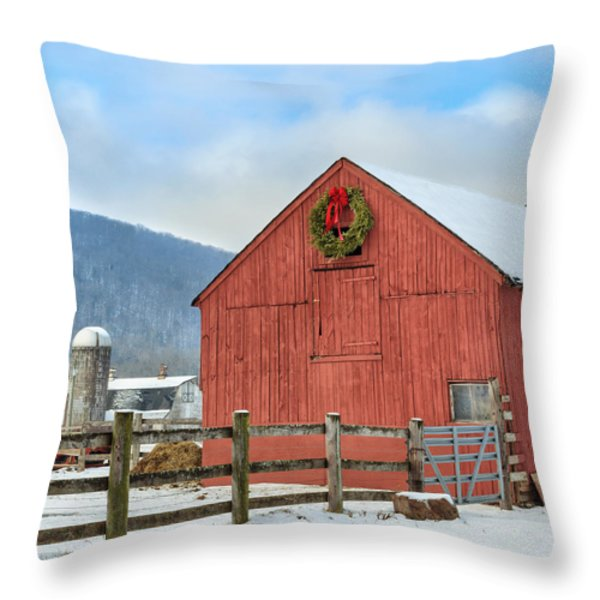 The Farm Square Throw Pillow by Bill  Wakeley