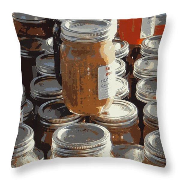 The Farmers Market Throw Pillow by Karyn Robinson