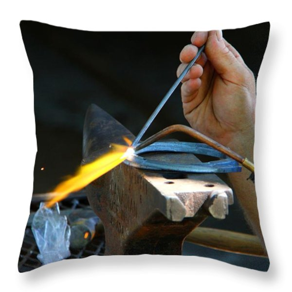 The Farrier Throw Pillow by Davandra Cribbie