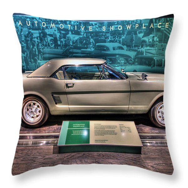 The First Mustang  Throw Pillow by Nicholas  Grunas