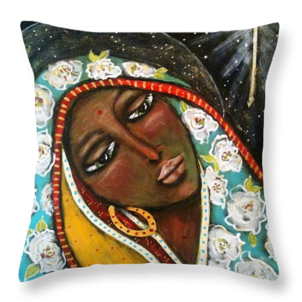 The First Noel Throw Pillow by Maya Telford