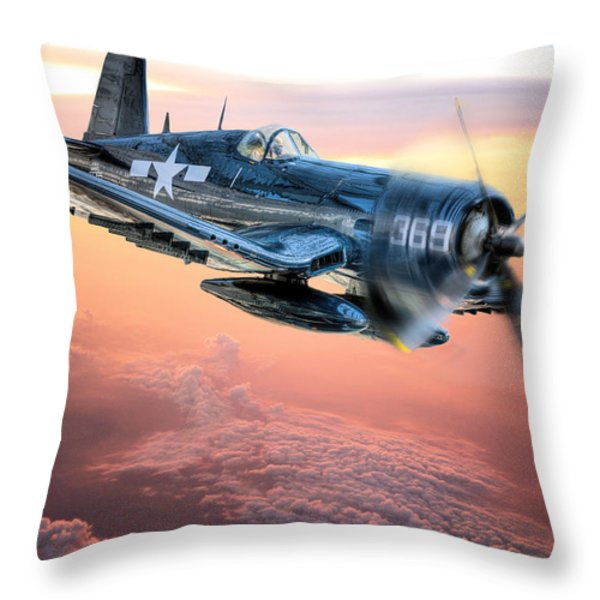 The Flight Home Throw Pillow by JC Findley