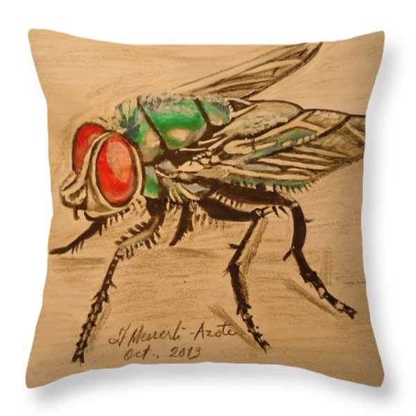 The Fly Throw Pillow by Fladelita Messerli-