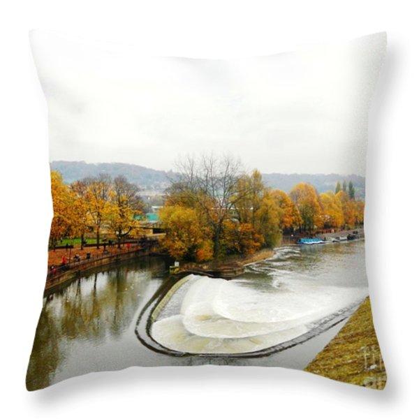 The Foggy Day Throw Pillow by LORETA MICKIENE