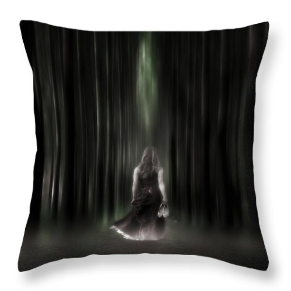 the forest Throw Pillow by Joana Kruse