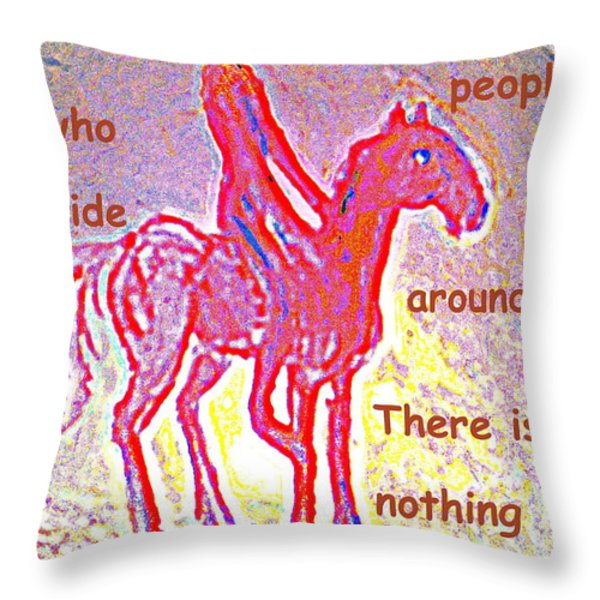 The four eyed troll  Throw Pillow by Hilde Widerberg