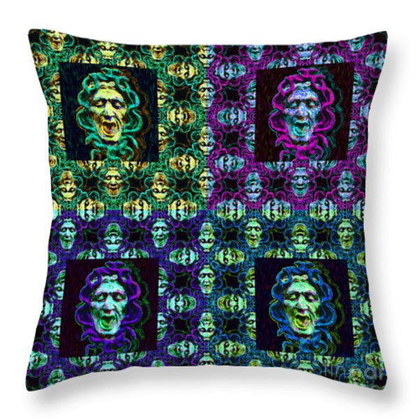The Four Medusas 20130131 Throw Pillow by Wingsdomain Art and Photography