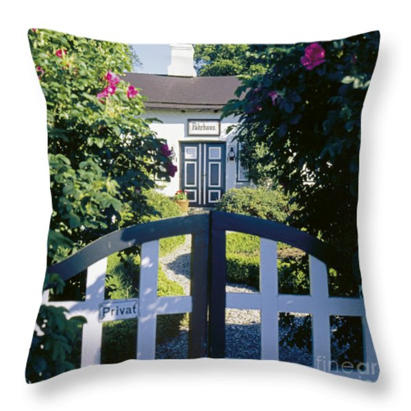 The Front Garden Throw Pillow by Heiko Koehrer-Wagner