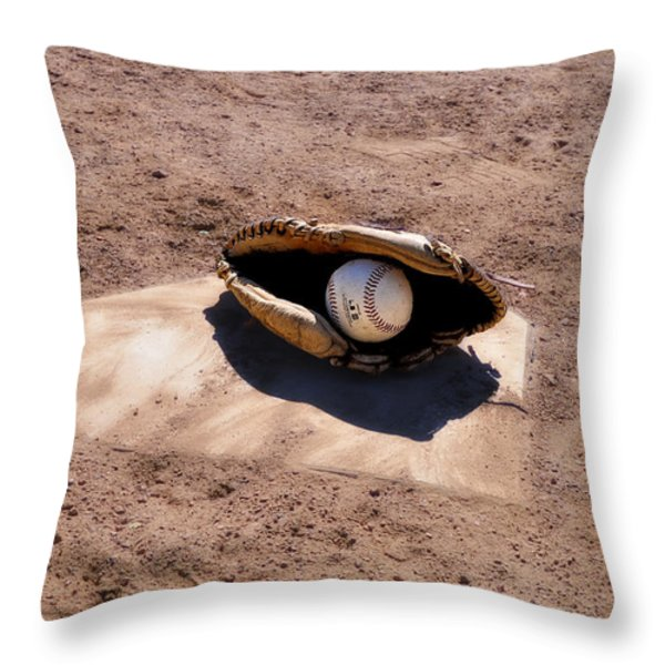 The Game Throw Pillow by Bill Cannon
