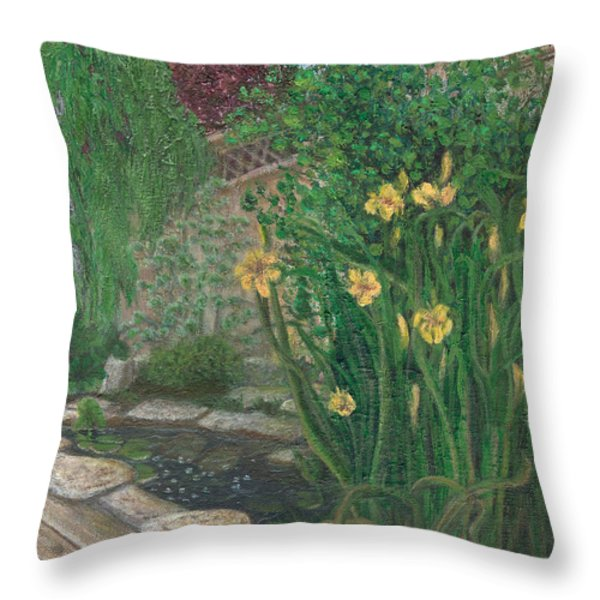 The Garden Throw Pillow by Catherine Howard