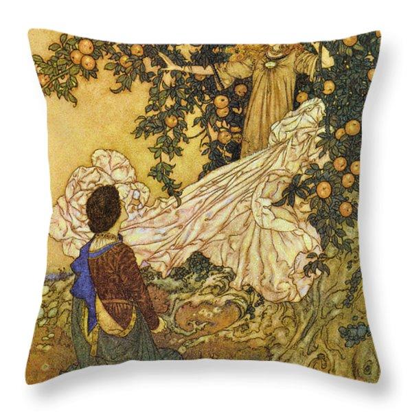 The Garden Of Paradise IIi Throw Pillow by Edmund Dulac