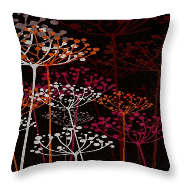 The Garden Of Your Mind 1 Throw Pillow by Angelina Vick