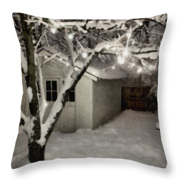 The Garden Sleeps Throw Pillow by Michelle Calkins