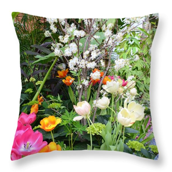 The Gardens Throw Pillow by Kathleen Struckle