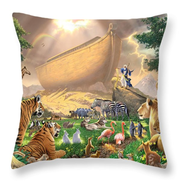 The Gathering Throw Pillow by Chris Heitt