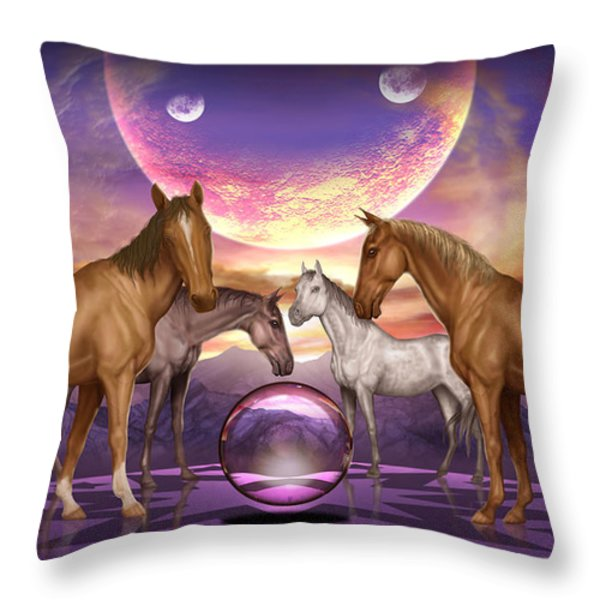 The Gathering Throw Pillow by Ciro Marchetti