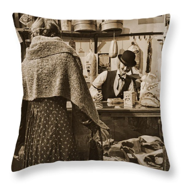 The General Store Throw Pillow by Priscilla Burgers