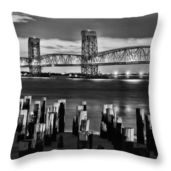 The Gil Hodges Bridge Throw Pillow by JC Findley