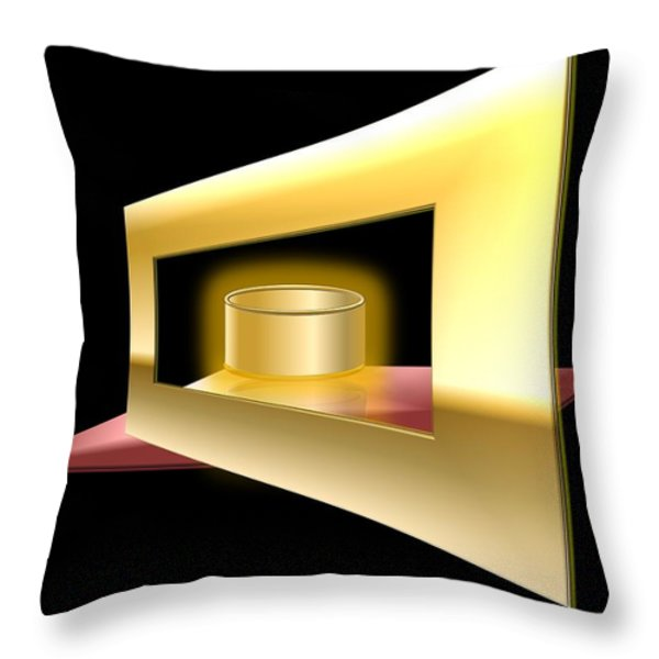The Golden Can Throw Pillow by Cyril Maza