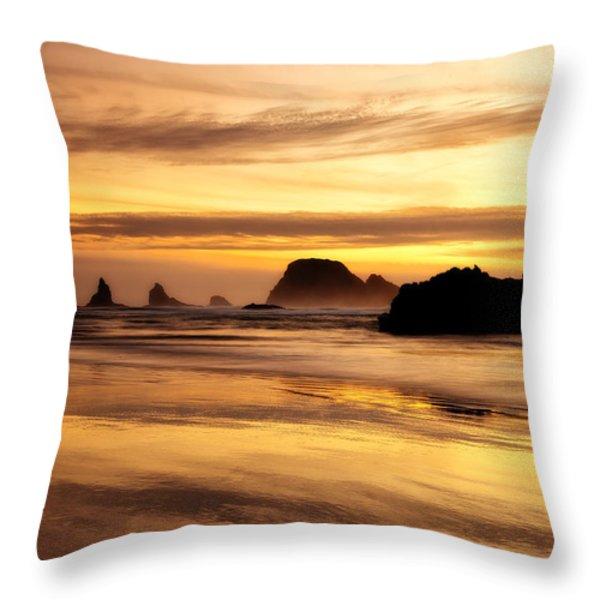 The Golden Coast Throw Pillow by Darren  White