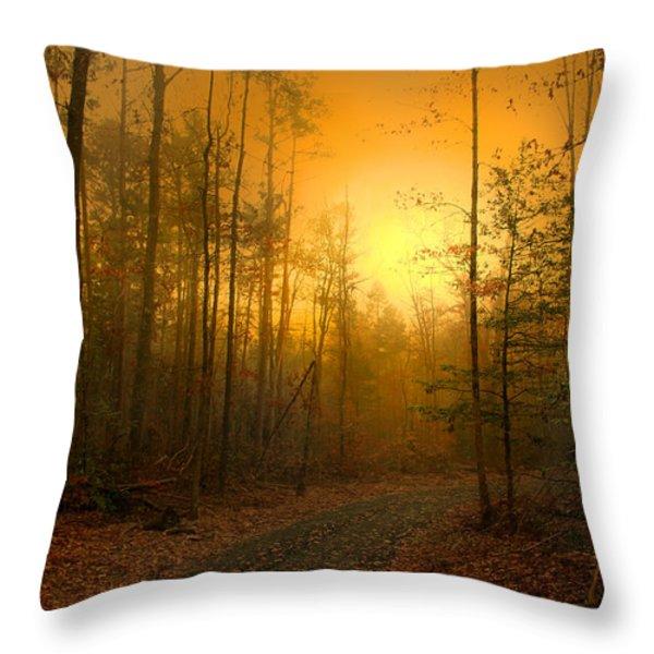 The Golden Touch Of Autumn Throw Pillow by Nina Fosdick