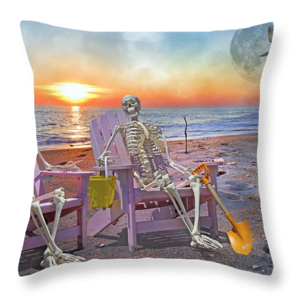 The Good Old Days Throw Pillow by Betsy A  Cutler