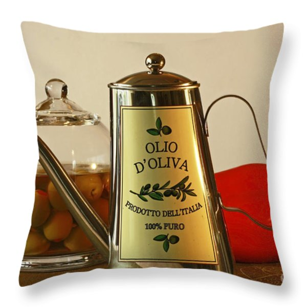 The Gourmet Kitchen Throw Pillow by Inspired Nature Photography By Shelley Myke