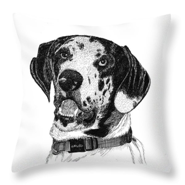 The Greatest Dane Throw Pillow by Jack Pumphrey