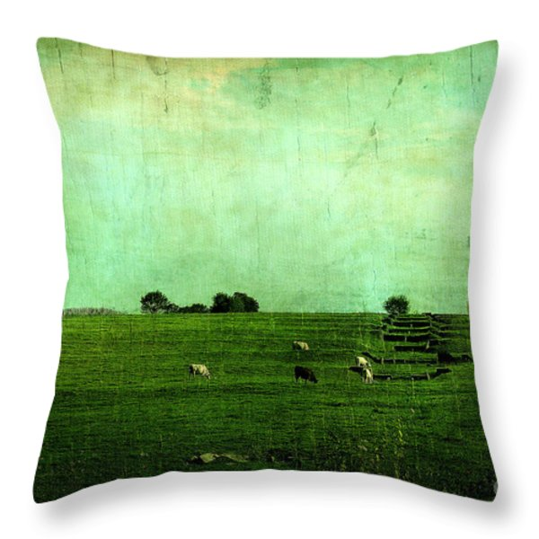 The Green Yonder Throw Pillow by Trish Mistric