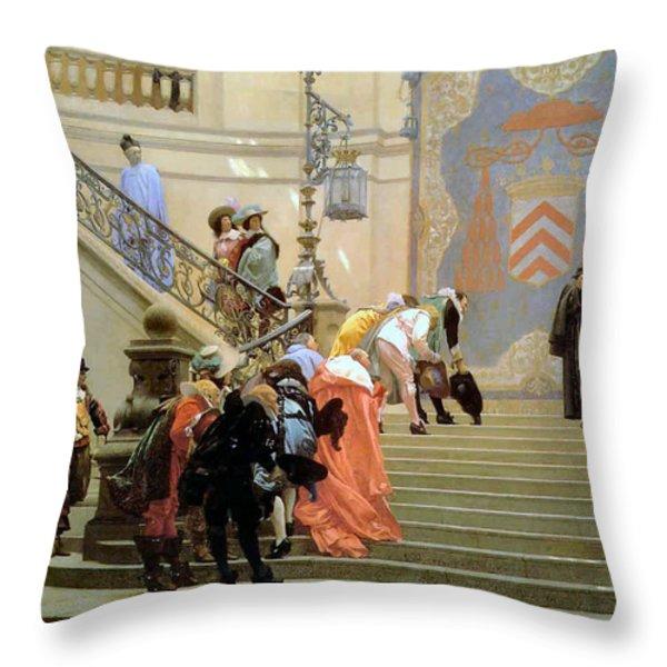 The Grey Cardinal Throw Pillow by Jean Leon Gerome