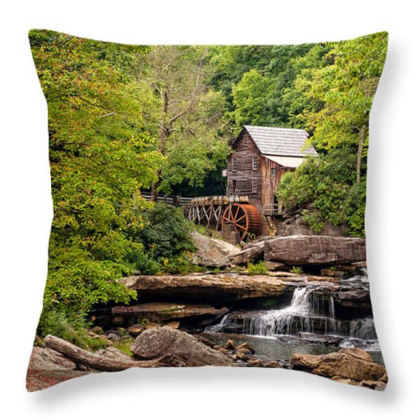 The Grist Mill Throw Pillow by Steve Harrington