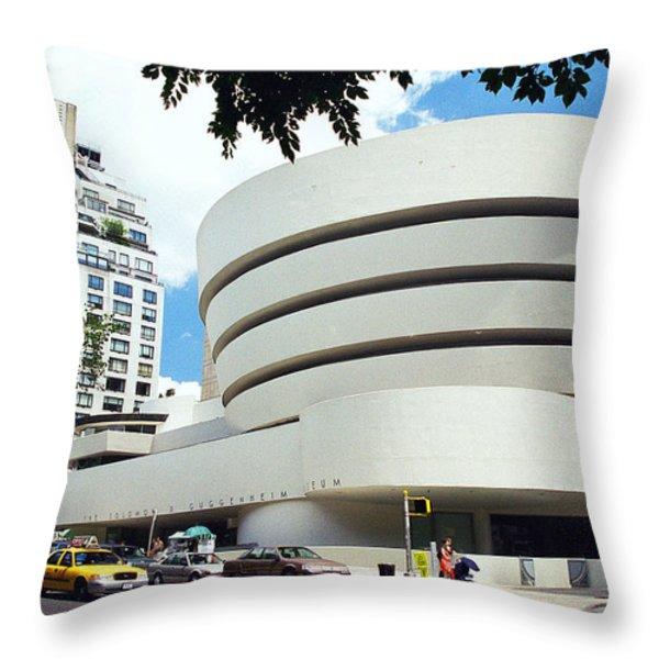 The Guggenheim Throw Pillow by Allen Beatty
