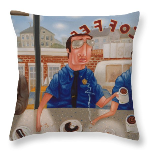 The Guilty Guy 1993 Throw Pillow by Larry Preston