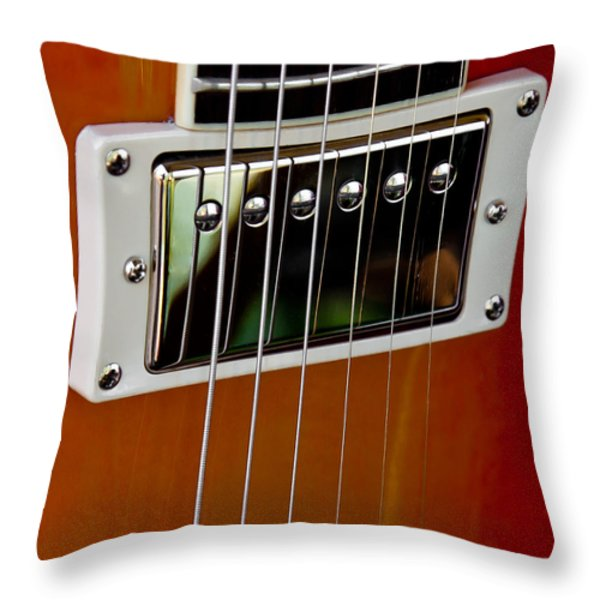 The Guitar Throw Pillow by David Patterson