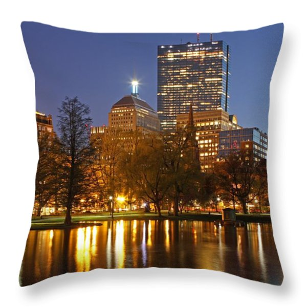 The Hancock and The Pru Throw Pillow by Juergen Roth