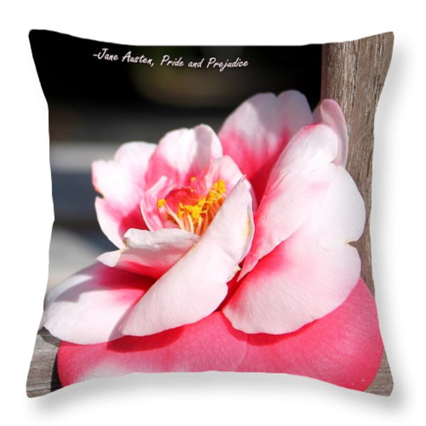 The Happily Ever After with Quote Throw Pillow by Samantha Glaze
