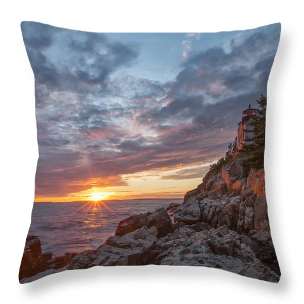 The Harbor Dusk II Throw Pillow by Jon Glaser